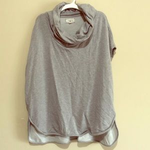 Lou and Gray cowl neck short sleeve sweater